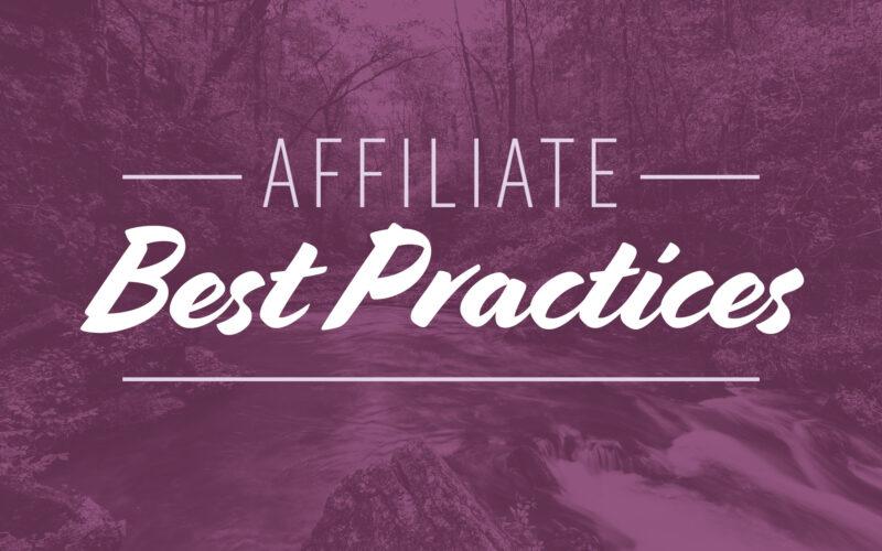 Affiliate best practices hero