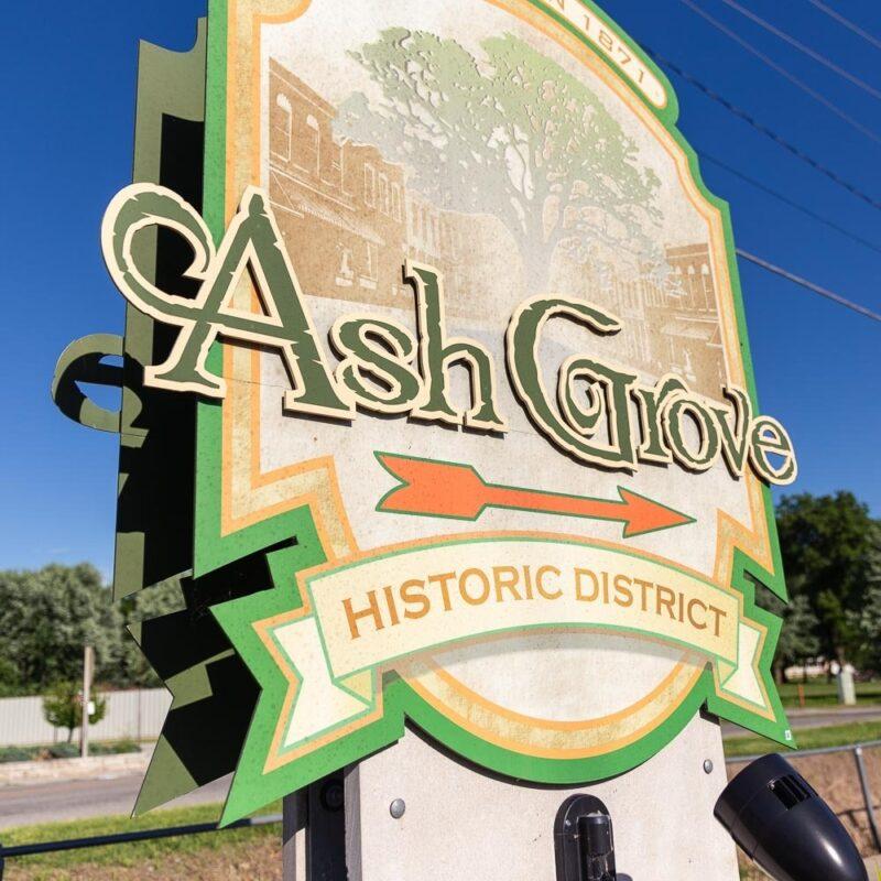 Ash grove area cf sign 1x1 1